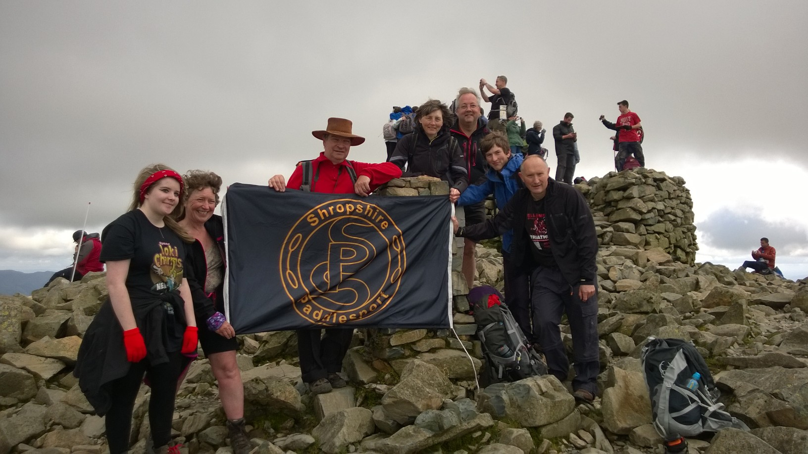 Flying the flag, Scarfell Pike