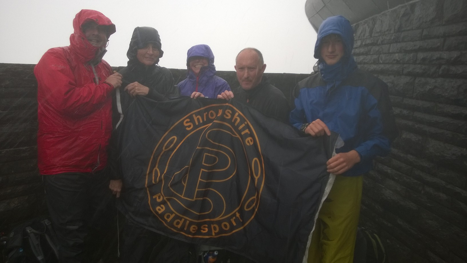 Flying the flag – Snowdon
